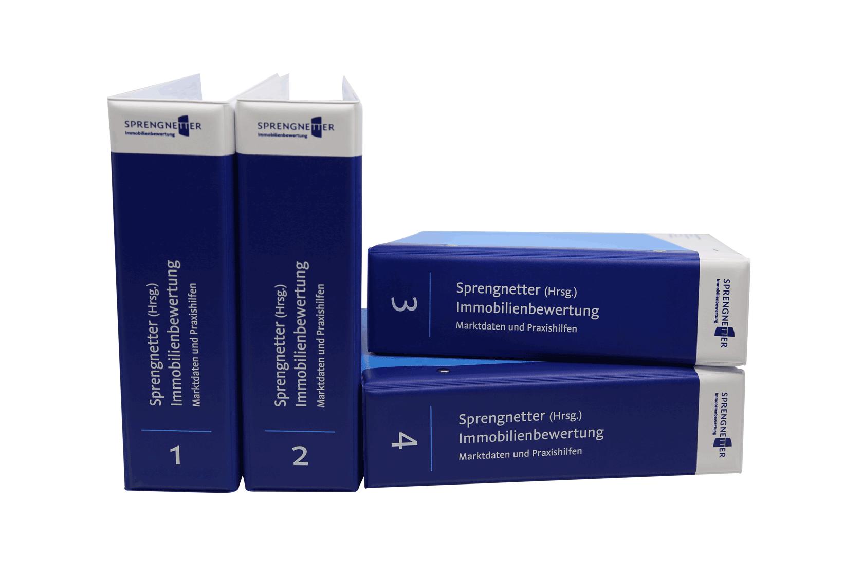 Einbanddecken Band 1 - 4 (Marktdaten und Praxishilfen)