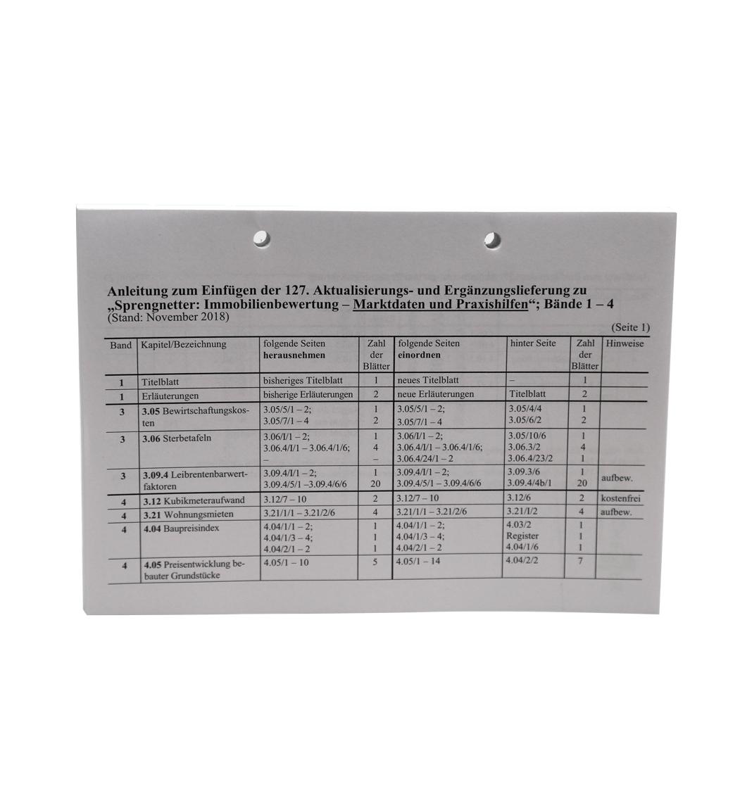 Ergänzungslieferungen 2018 Marktdaten und Praxishilfen