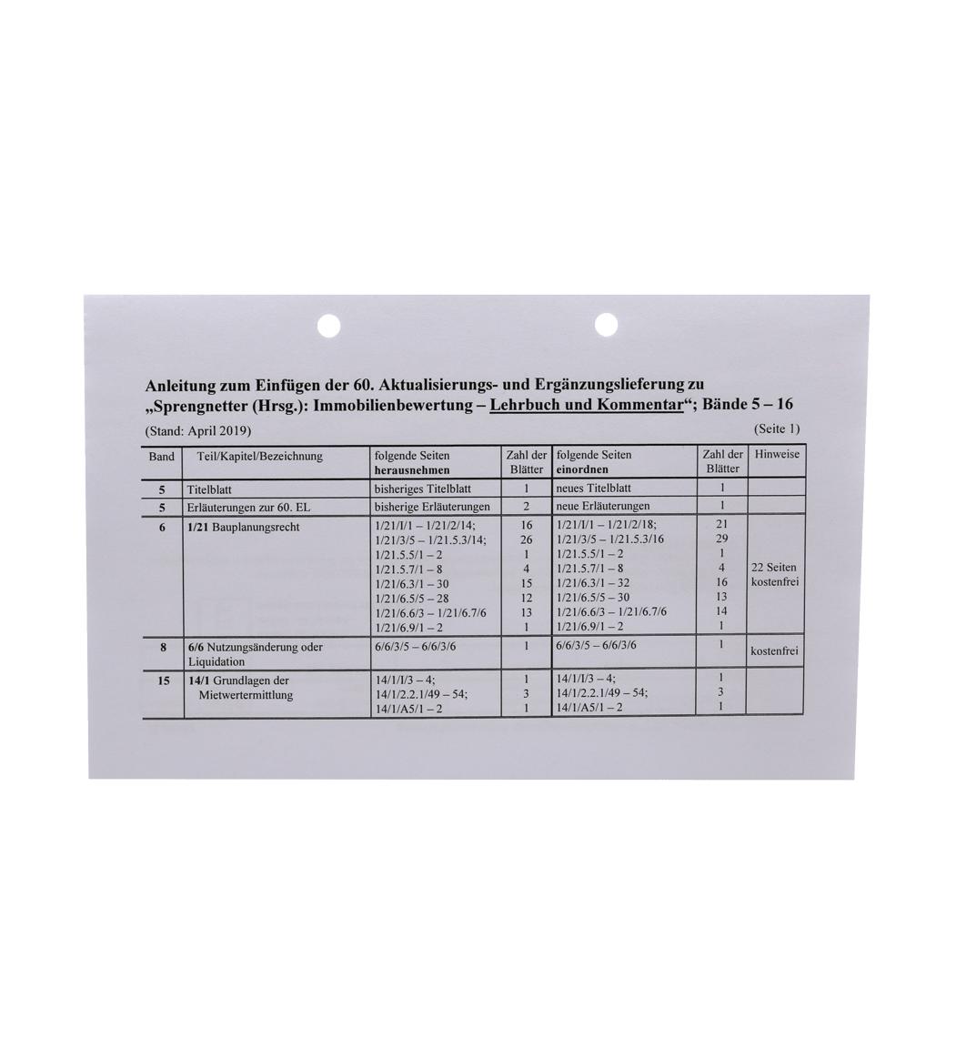 Ergänzungslieferungen 2019 Lehrbuch und Kommentar