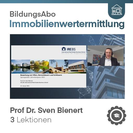 Bewertung von Villen, Herrenhäusern und Schlössern - Prof. Dr. Sven Bienert