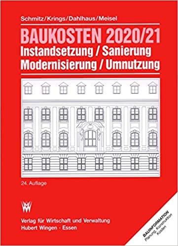 Baukosten 2020/21 Instandsetzung, Sanierung, Modernisierung, Umnutzung: Bd. 1 Altbau