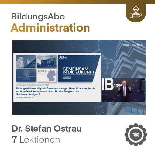 Datengetriebene digitale Daseinsfürsorge und Auswirkung auf die Tätigkeit des Sachverständigen - Dr. -Ing. Stefan Ostrau