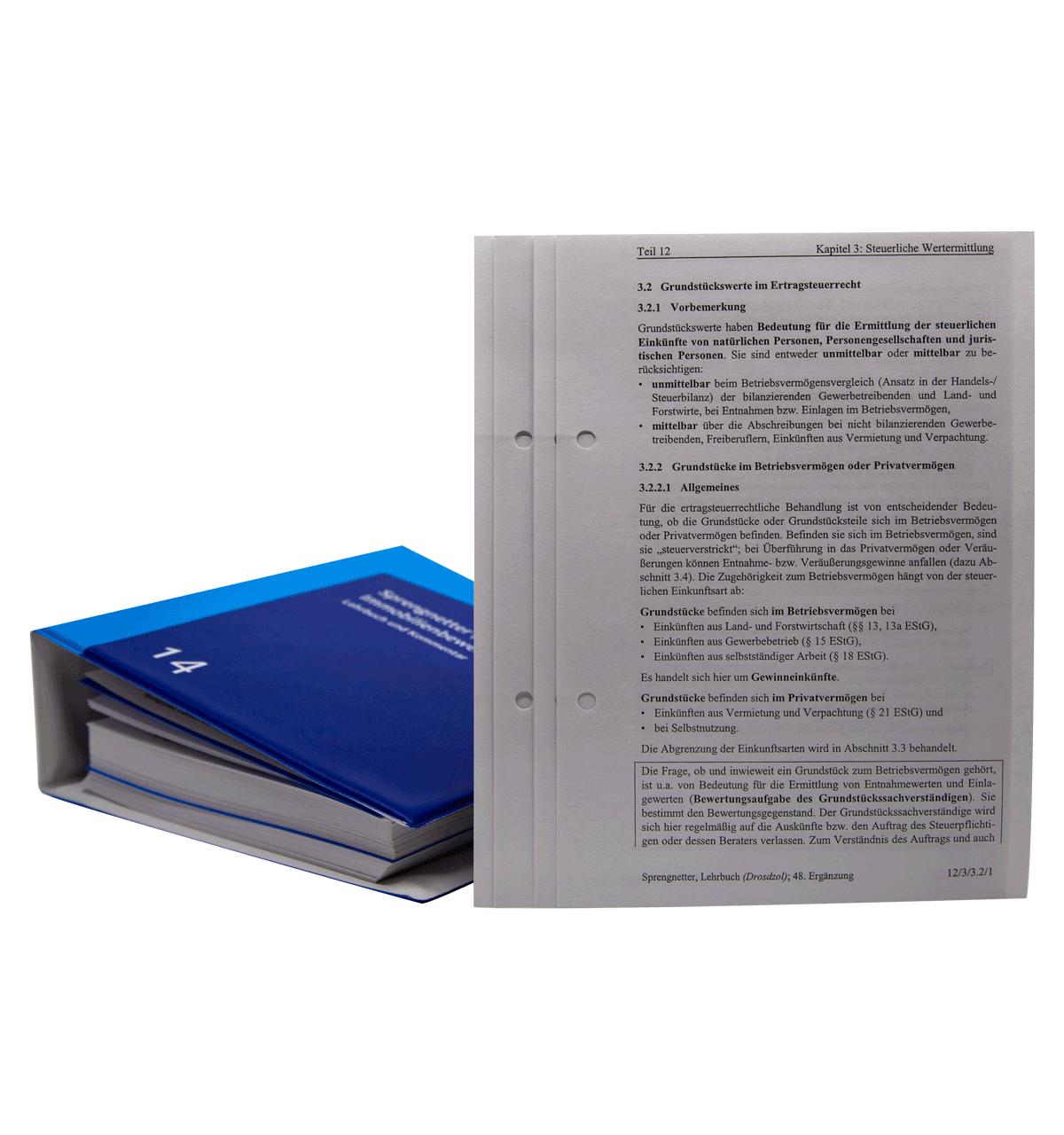 Austauschinhalt Band 5 - 16 (Lehrbuch und Kommentar) – 2020