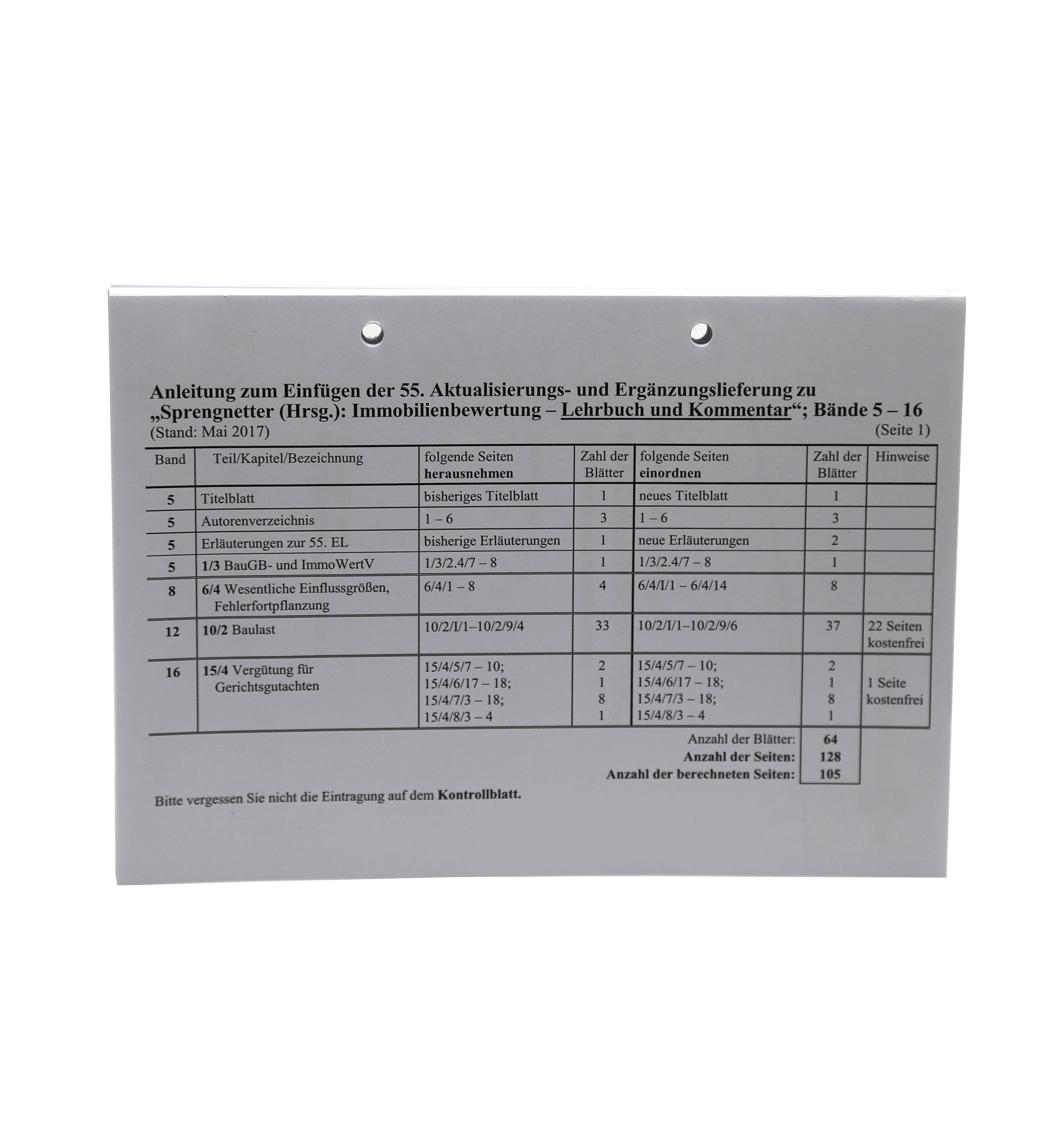 Ergänzungslieferungen 2017 Lehrbuch und Kommentar